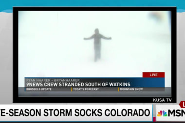 Colorado smacked with sudden snow storm