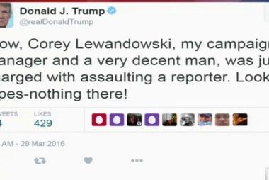 Trump campaign: Lewandowski is innocent