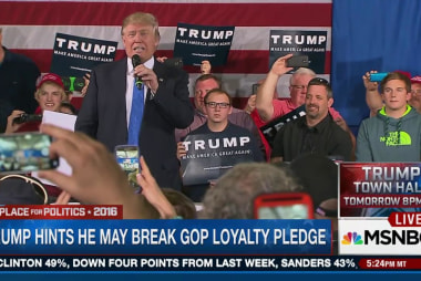 Trump hints he may break loyalty pledge