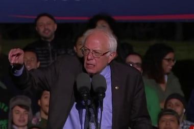 Sanders goes after Clinton on home turf