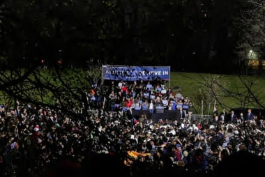 Sanders addresses crowd of 18,500 in Bronx