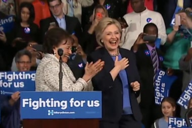 What is Hillary Clinton's core message?