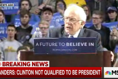 Sanders: Clinton not qualified for presidency