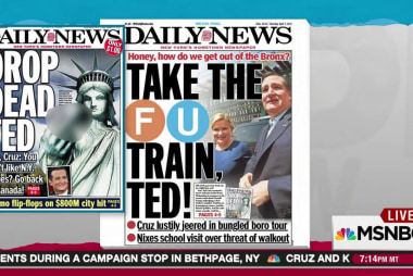NY tabloid greets Ted Cruz with Bronx cheer