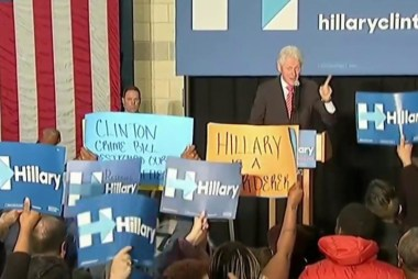 Is Bill Clinton disrupting Hillary's...