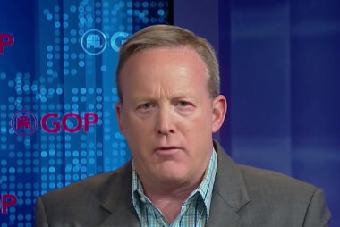 RNC's Sean Spicer reacts to Trump's...