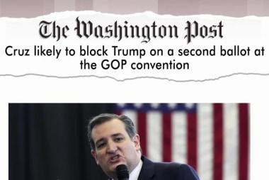 Cruz works to block Trump; Ryan says no