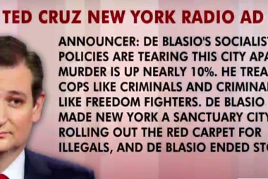 NYPD hits Cruz over campaign ad inaccuracies