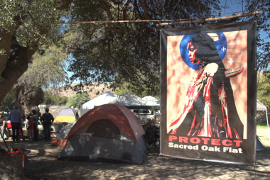 Apaches occupy sacred land to be destroyed...