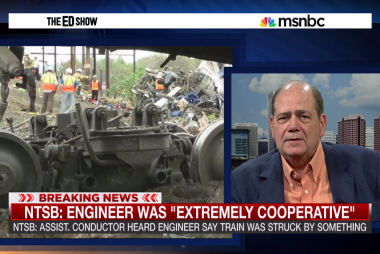 Amtrak train struck by object before crash?