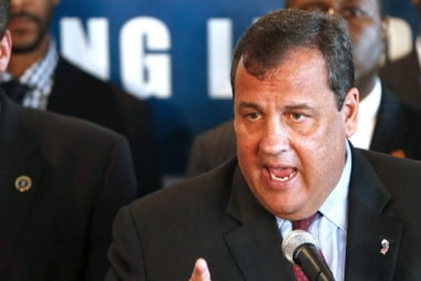 Chris Christie in crisis management mode