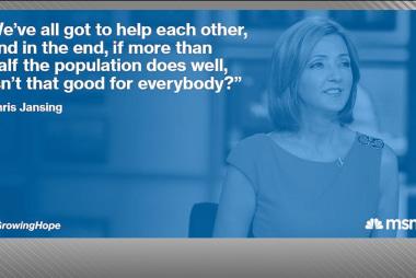 MSNBC helps in 'Growing Hope'