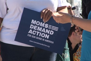 Moms hold protest outside NRA annual meeting