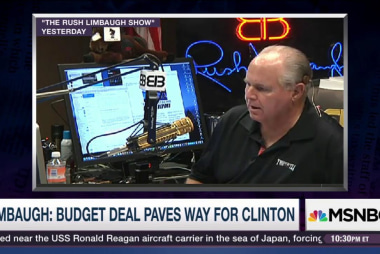 Limbaugh: Budget deal leads to a Clinton win