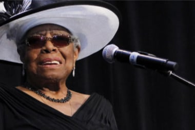 Powerful moments at Maya Angelou's memorial