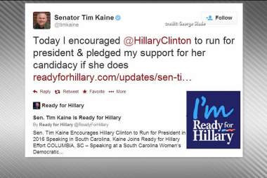 Tim Kaine endorses Hillary Clinton for 2016