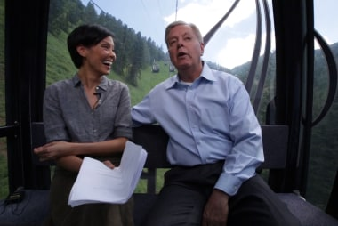Alex Wagner, Lindsey Graham take gondola ride
