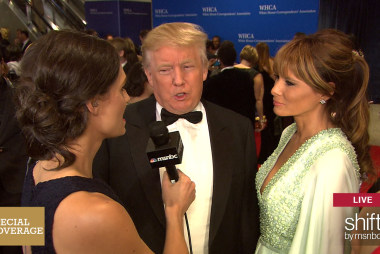 Trump shares presidential plans on red carpet