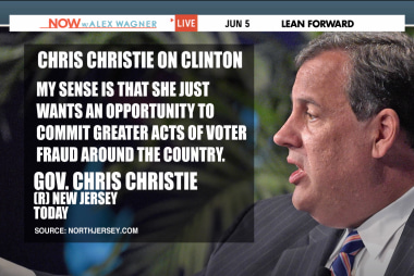 Christie, Clinton butt heads on voting rights