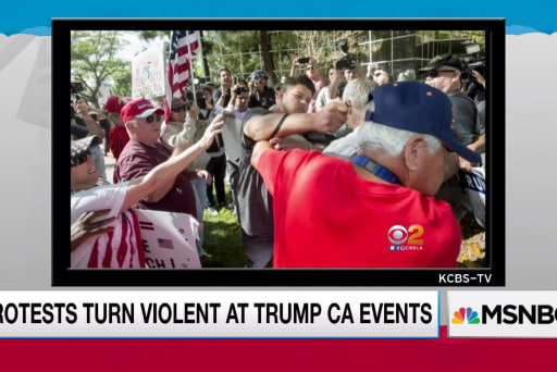 Trump supporters and protesters clash