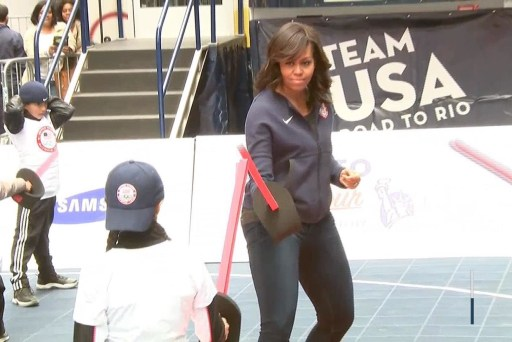 Michelle Obama celebrates 100 days to Rio