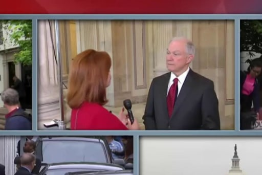 Sessions: Trump is out in front on key issues