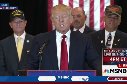 Trump faces criticism from veterans group