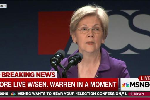 Warren on Trump: 'a total disgrace'