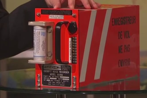 Data recorder recovered from downed...