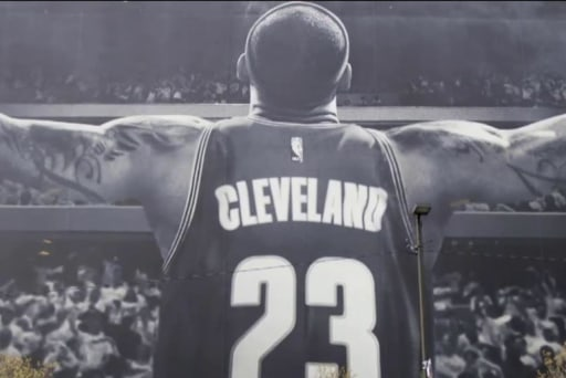Controversy erupts over LeBron James banner