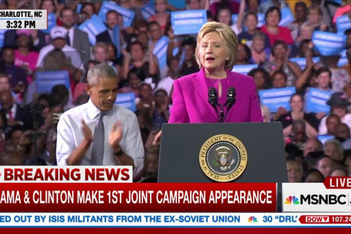 Clinton jabs Trump over Obama birther claims