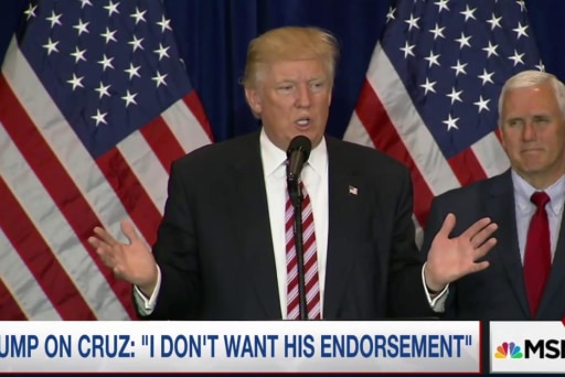Trump goes after Cruz, again