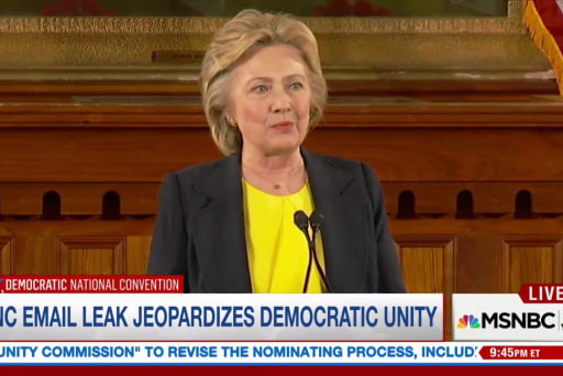 What does Clinton need to do at the DNC?