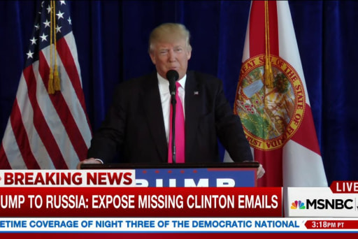 Trump calls on Russia to expose Clinton...
