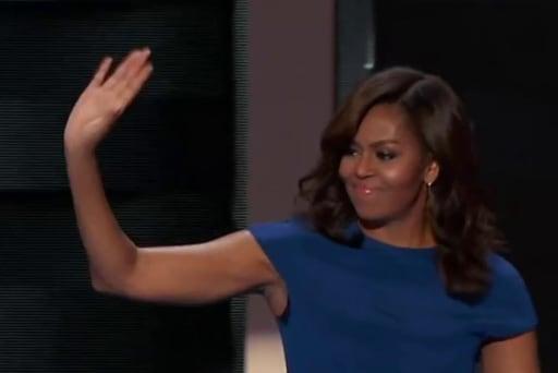 First Lady's 'slam dunk speech' at DNC