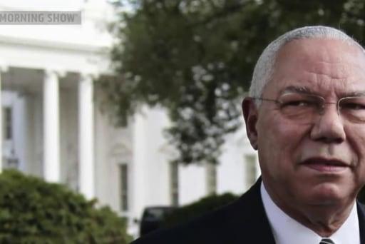 Back on stump, Clinton talks Colin Powell