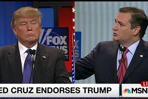Cruz abandons principle, endorses Trump