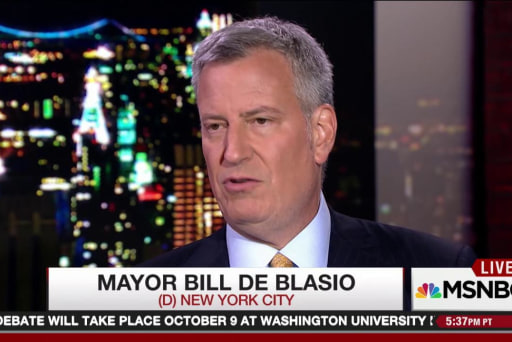 NYC mayor on Trump's stop & frisk claims