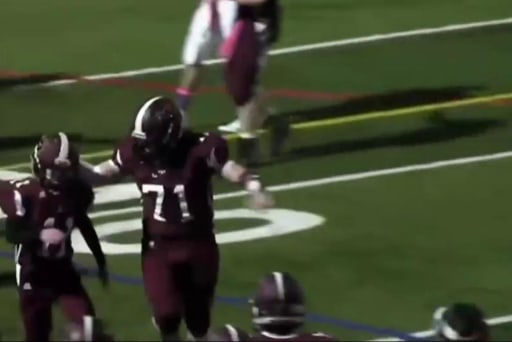 Student with down syndrome scored a touchdown