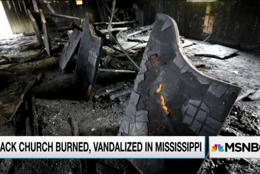 Public rallies to help burned MS church