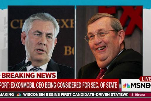 ExxonMobil execs among Trump cabinet options