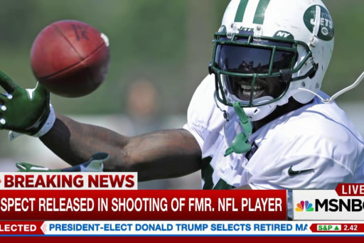 Suspect who shot former NFL player released