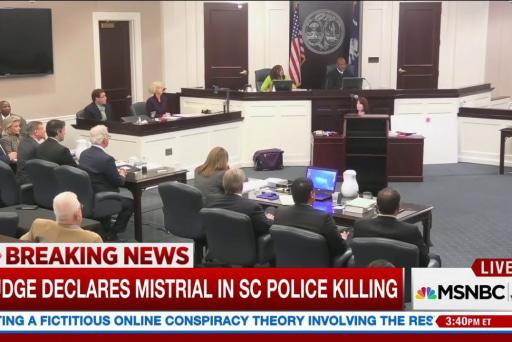 Judge declares mistrial in South Carolina...