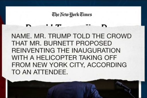 Trump hints at big changes for inauguration