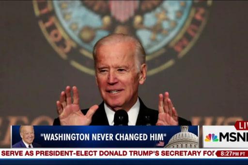 Senate colleagues pay tribute to Joe Biden