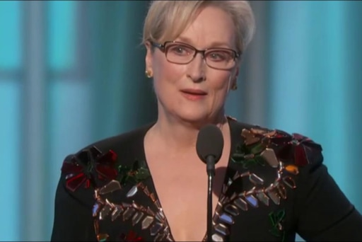 Meryl Streep takes on Trump at the Golden...