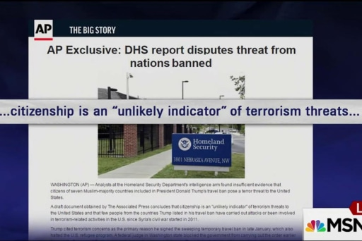 New leaked DHS report discredits Trump...