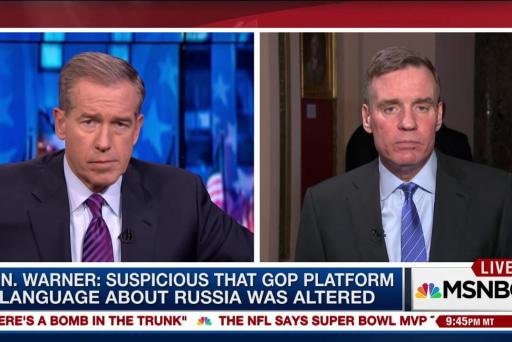 Sen. Warner: Trump White House needs to...