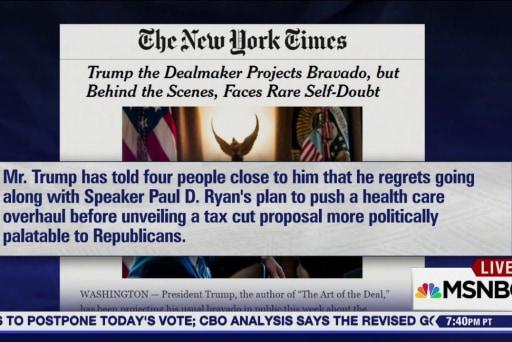 Trump Team blaming Paul Ryan for AHCA debacle