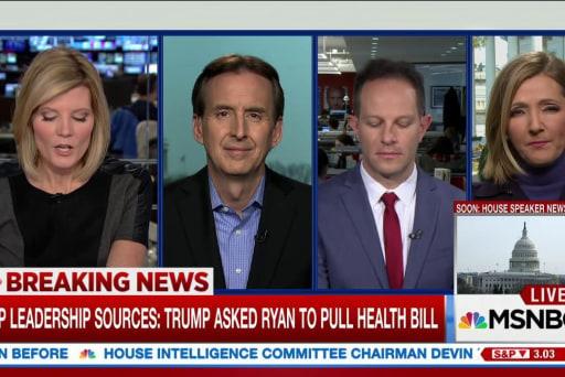 Report: Trump pulls health care bill from...